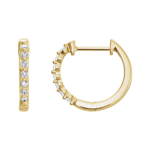 Diamond Small Hoops - Lauren Sigman Collection