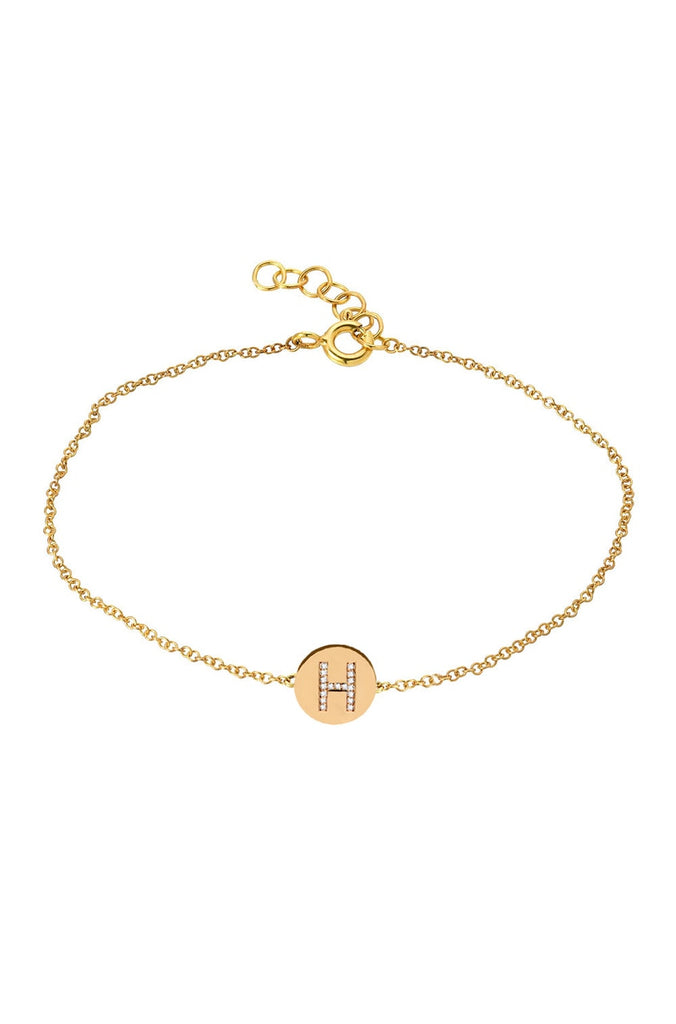 Diamond A Disk Bracelet - Lauren Sigman Collection