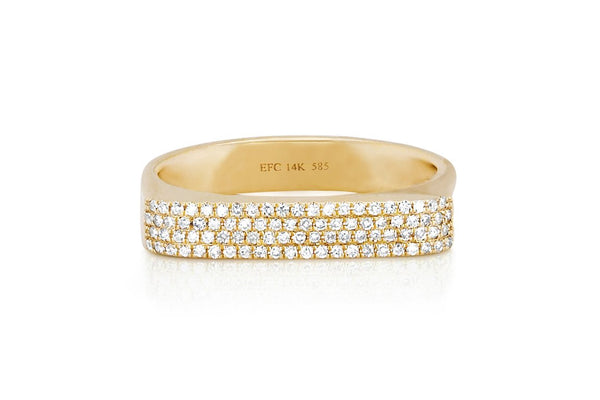 Diamond Jumbo Bar Ring - Lauren Sigman Collection