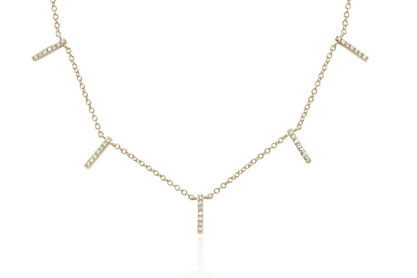 Multiple Diamond Bar Necklace - Lauren Sigman Collection