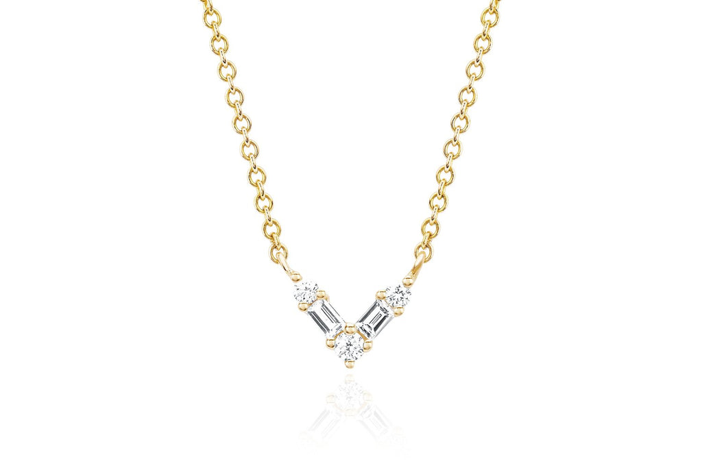 Baguette Chevron Diamond Necklace - Lauren Sigman Collection