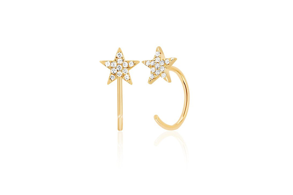 Star Loop Diamond Earrings - Lauren Sigman Collection