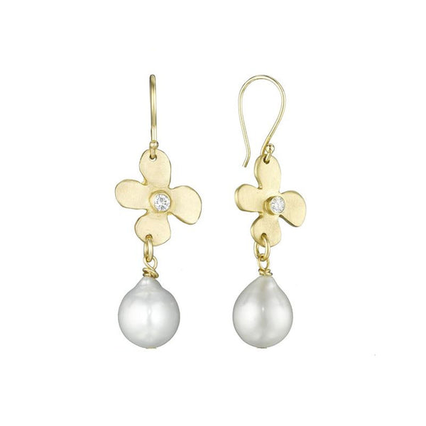 Lily and Diamond Pearl Earring - Lauren Sigman Collection