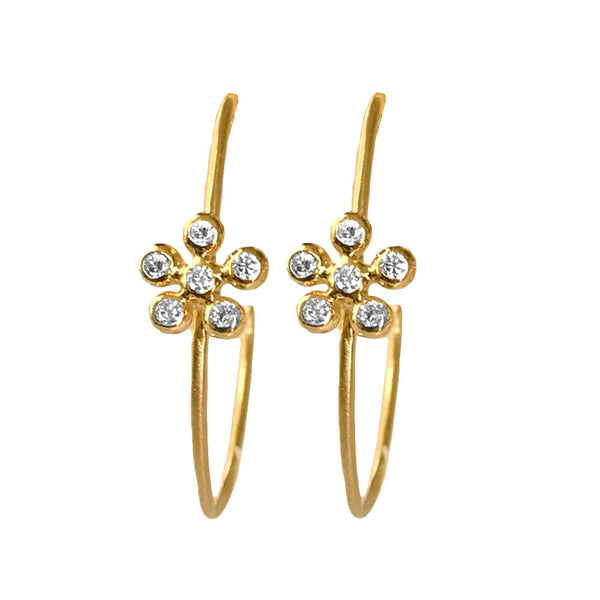 Peony Diamond Hoops - Lauren Sigman Collection
