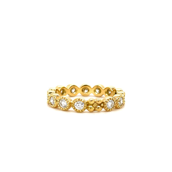 Jasmine Band in 18k Gold with Diamonds - Lauren Sigman Collection