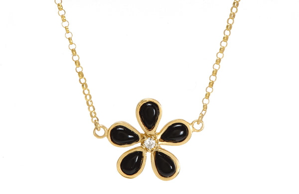 Orchid Black Onyx & Diamond Necklace - Lauren Sigman Collection