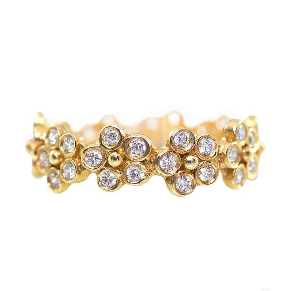 Flora Diamond Anniversary Band/Yellow Gold - Lauren Sigman Collection