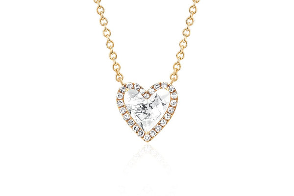 Diamond & White Topaz Heart Necklace - Lauren Sigman Collection