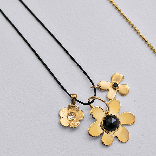 Charm Necklace on Black Silk - Lauren Sigman Collection