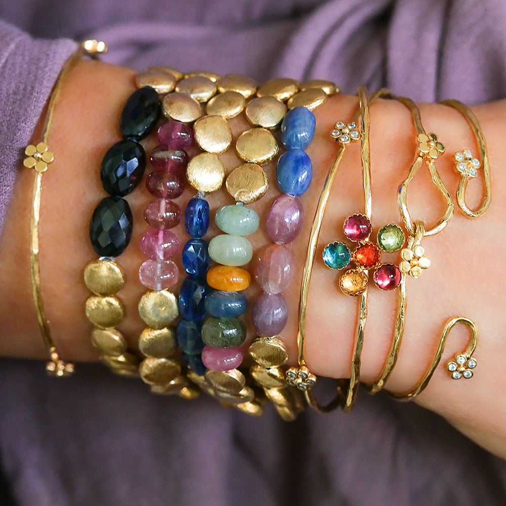 Sapphire and Bangle Stack - Lauren Sigman Collection