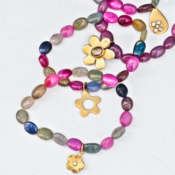 Sapphire bead charm bracelets - Lauren Sigman Collection