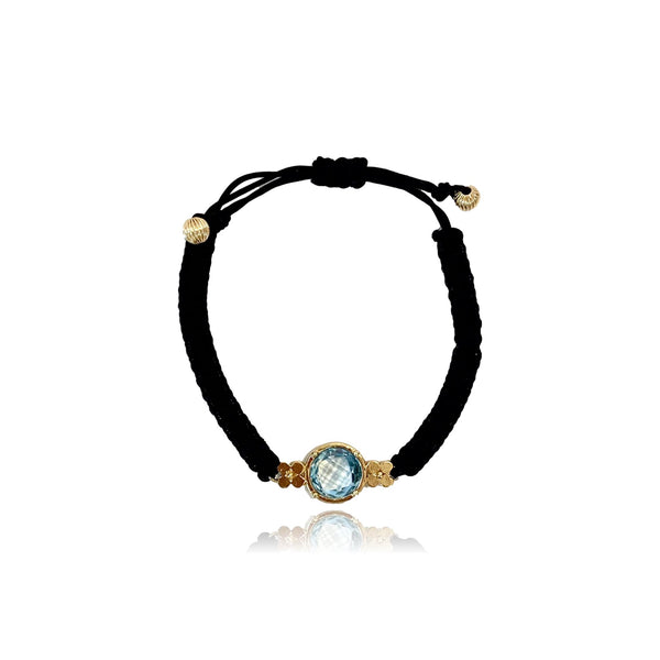 Aspen Gemstone Bracelet/Blue Topaz - Lauren Sigman Collection