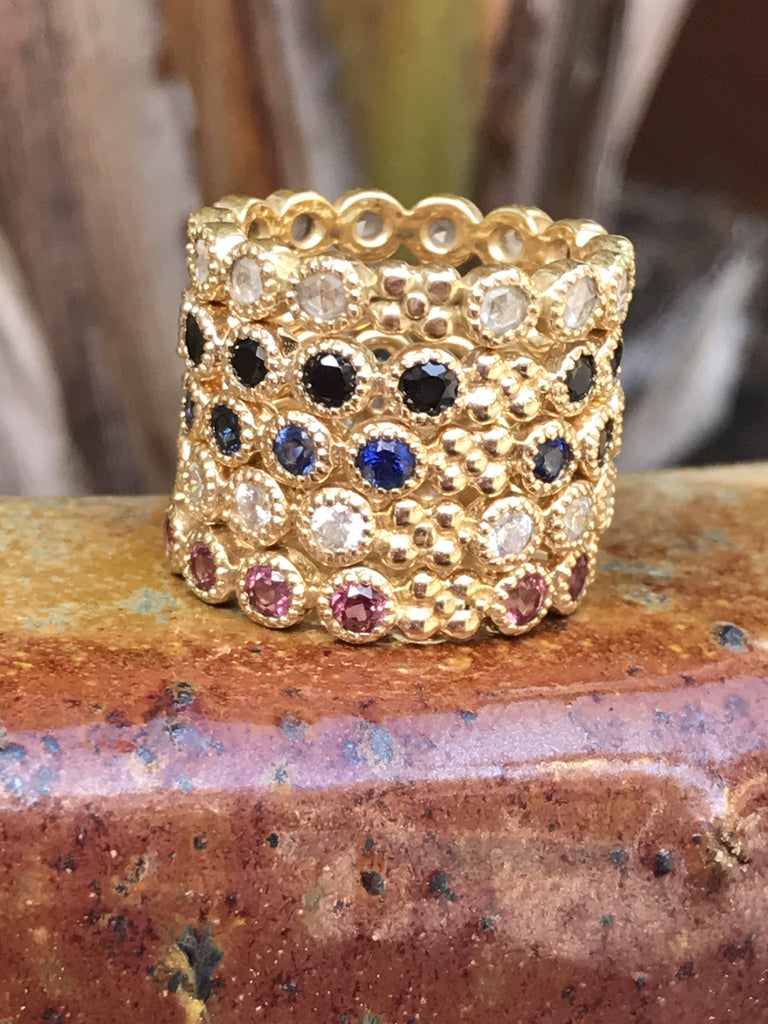 Jasmine Band in 18k Gold with Black Spinel - Lauren Sigman Collection