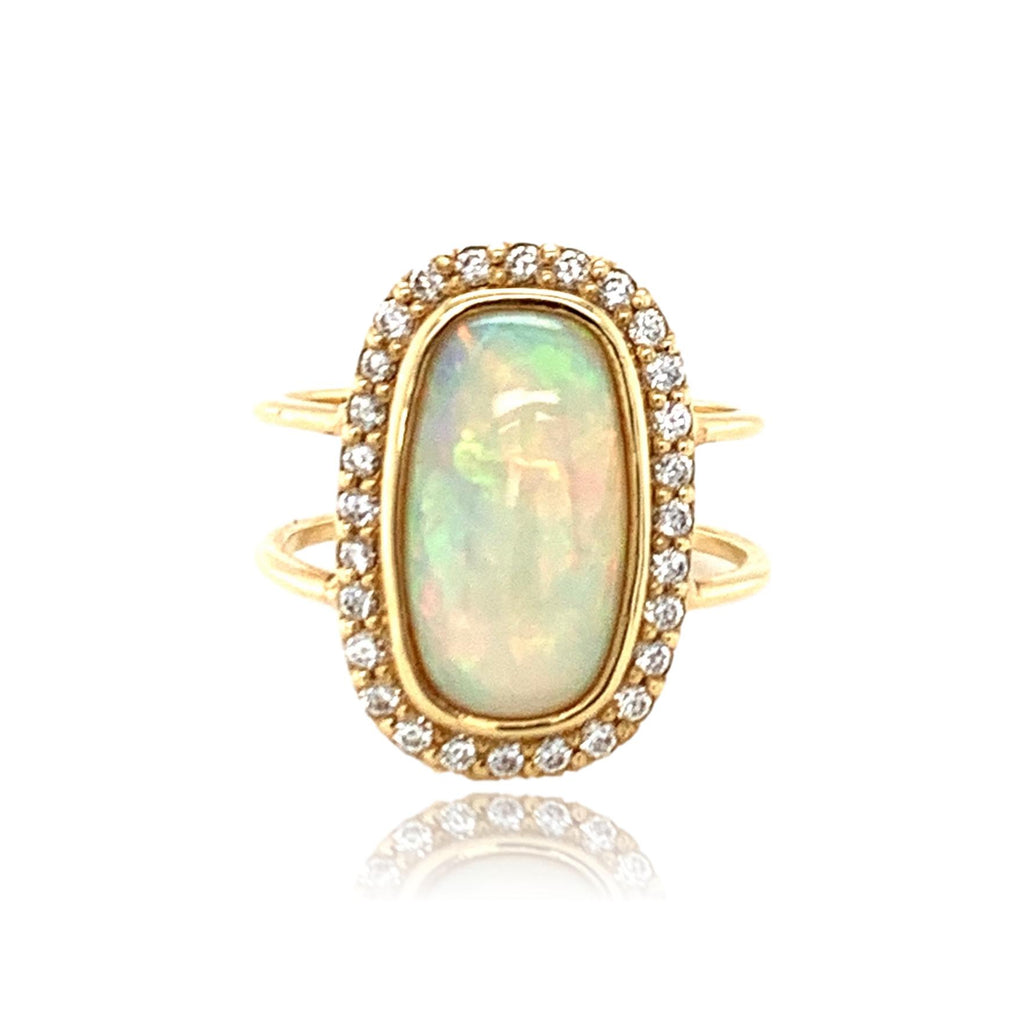 Opal and Diamond Pave Ring - Lauren Sigman Collection