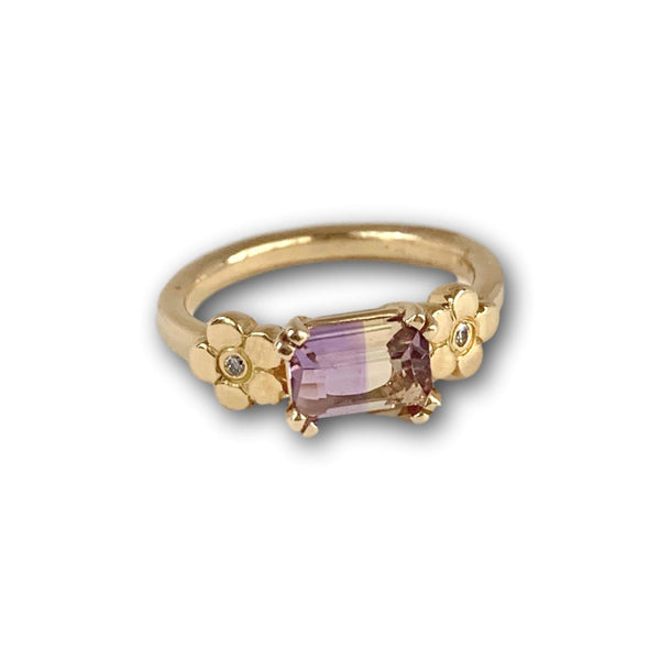 Cala Lily Ring with Ametrine & Diamond - Lauren Sigman Collection