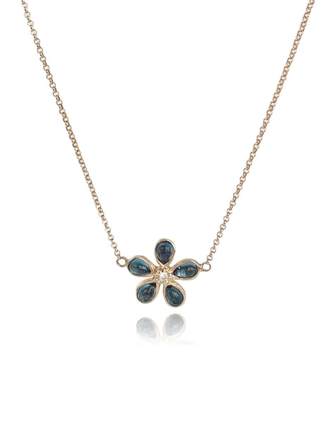 Orchid London Blue Topaz & Diamond Necklace - Lauren Sigman Collection