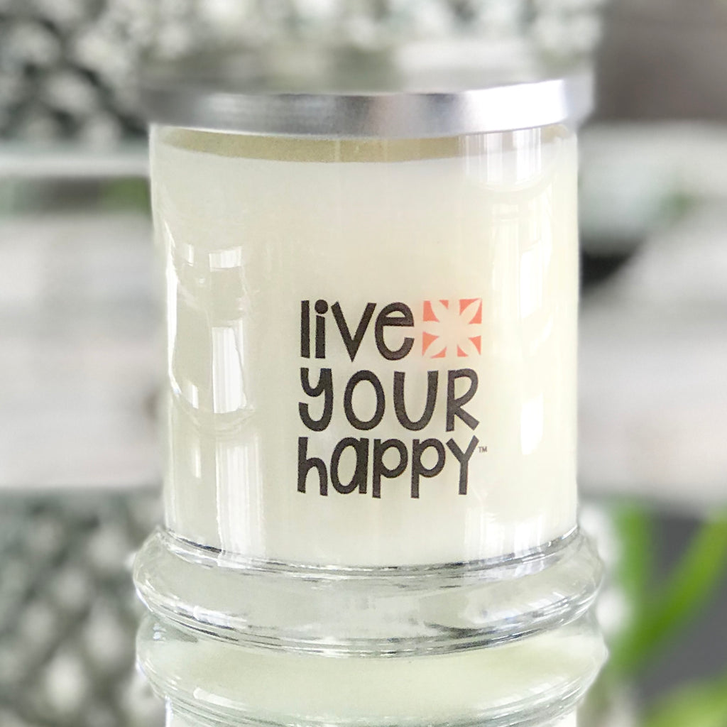 Happy Blossom Candle Jar-12.5oz - Lauren Sigman Collection