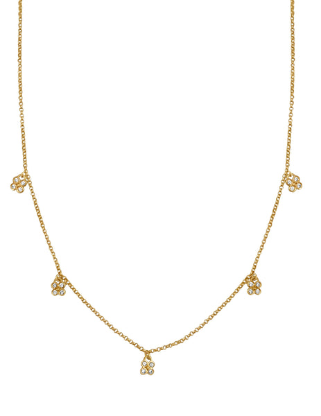 Diamond Rose Bud Confetti Necklace - Lauren Sigman Collection