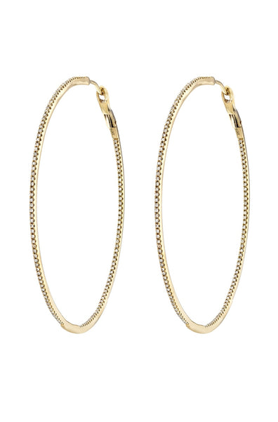 Large Pave Diamond Hoops - Lauren Sigman Collection