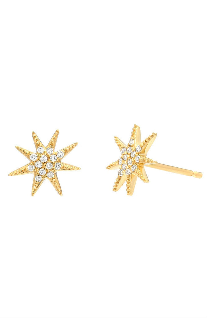 Diamond Sunburst Stud Earrings - Lauren Sigman Collection