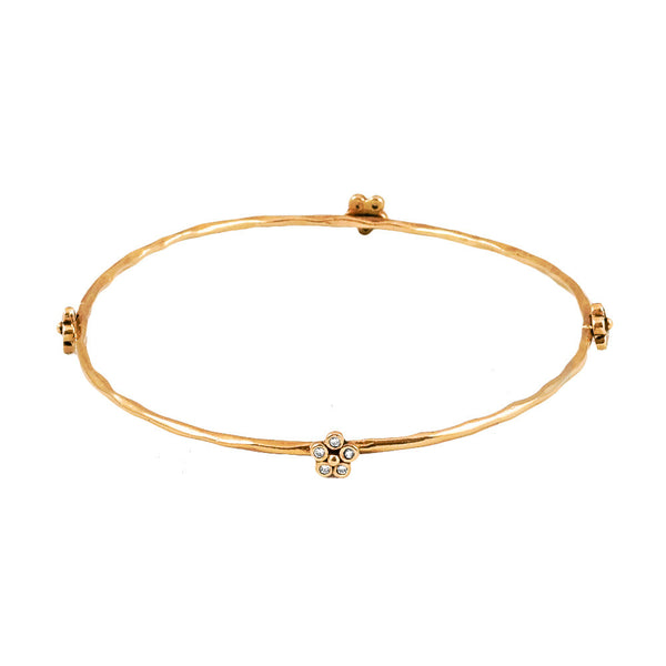 Diamond Flower Bangle - Lauren Sigman Collection