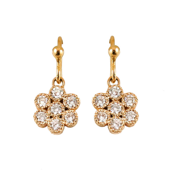Water Lily Diamond Earrings - Lauren Sigman Collection