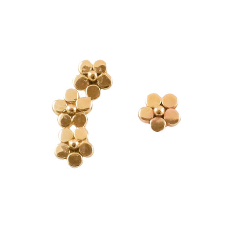14K Flower Ear Climber and Stud Earrings - Lauren Sigman Collection