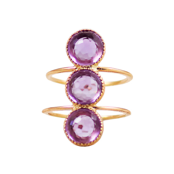 Bluebell Ring /Amethyst - Lauren Sigman Collection