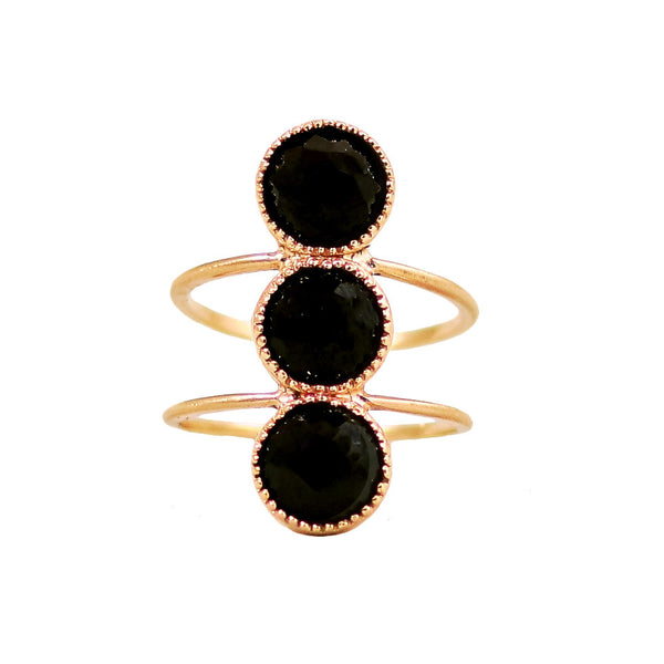 Bluebell Ring / Black Spinel - Lauren Sigman Collection