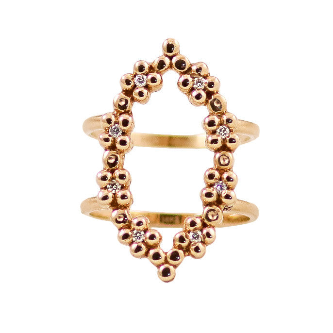 Amaryllis Diamond Ring/Yellow Gold - Lauren Sigman Collection