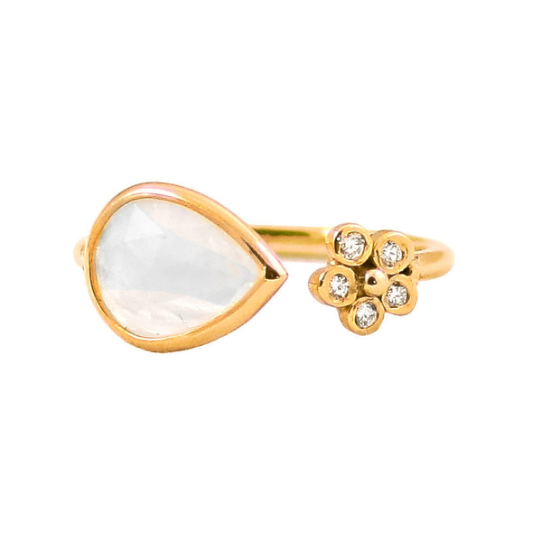 Opal & Diamond Split Ring - Lauren Sigman Collection