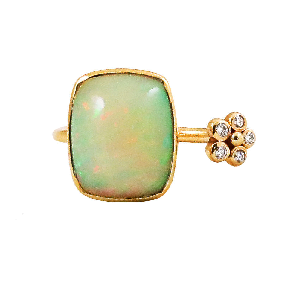 Ethiopian Opal Split Flower Ring - Lauren Sigman Collection
