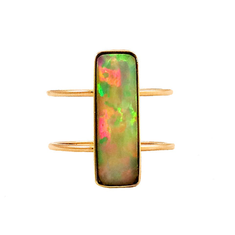 Opal/ Double band ring - Lauren Sigman Collection