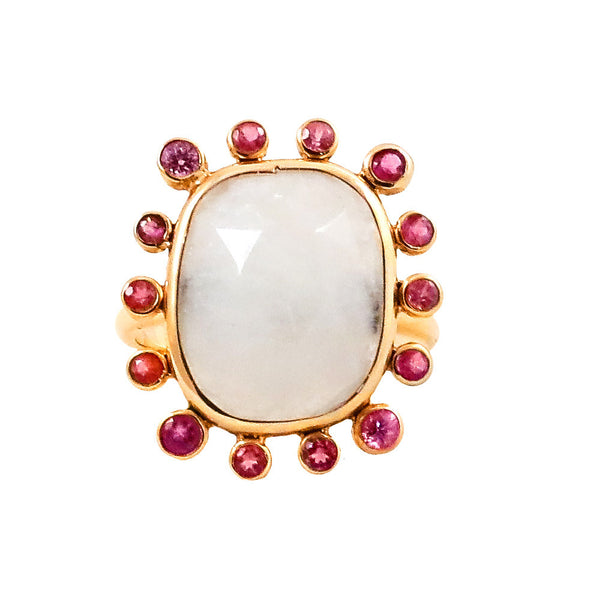 Pink Sapphire Moonstone ring - Lauren Sigman Collection