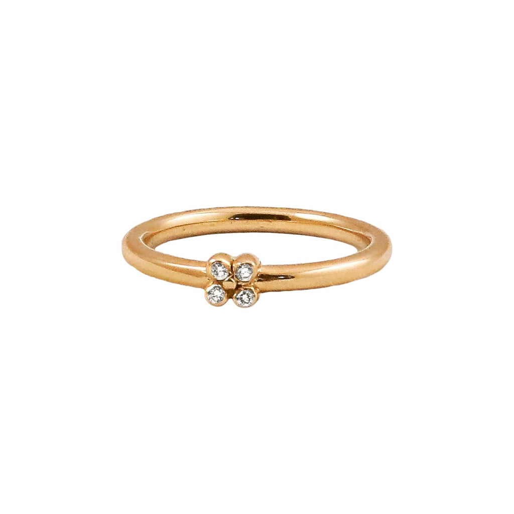 Gold Tansy Stacking Band with Diamonds - Lauren Sigman Collection