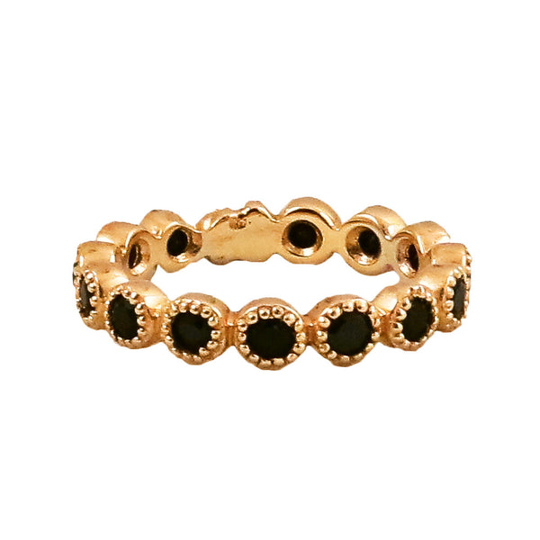 18K Black Spinel Jasmine Anniversary Band - Lauren Sigman Collection