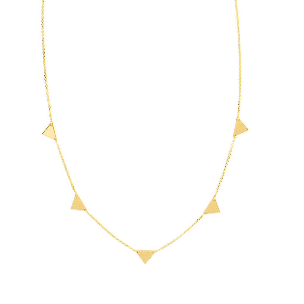 Mini Triangle Station Necklace - Lauren Sigman Collection