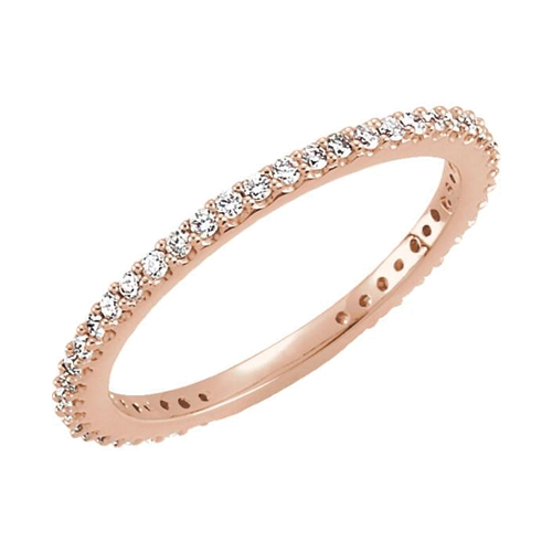 Pave Stacking Ring-Rose Gold - Lauren Sigman Collection