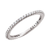 Pave Stacking Ring-White Gold - Lauren Sigman Collection