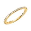 Pave Stacking Ring-Yellow Gold - Lauren Sigman Collection