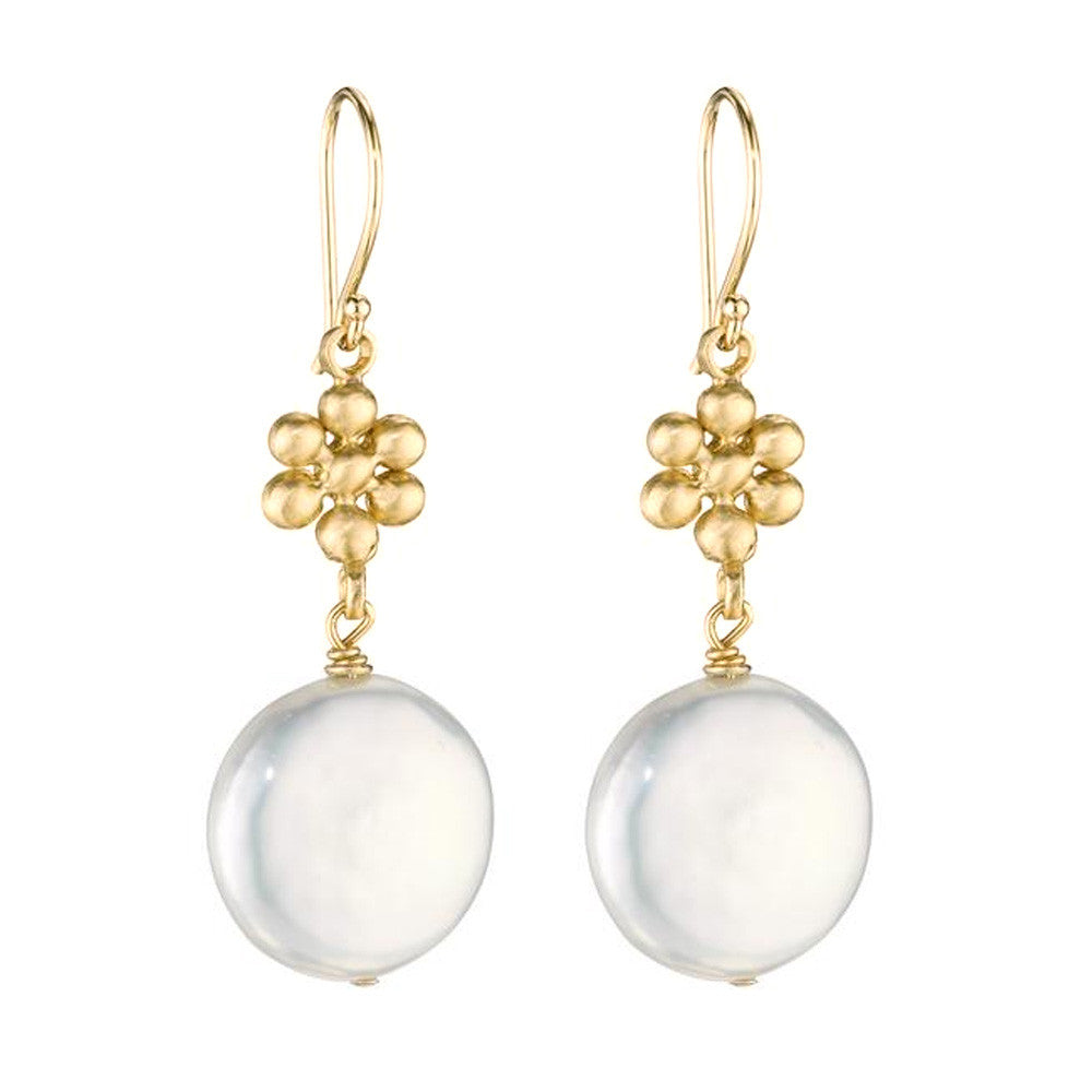 Ginger Coin Pearl Earrings - Lauren Sigman Collection