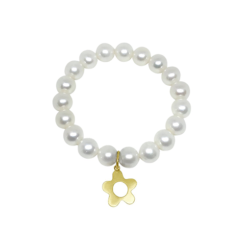 Pearl and Wildflower Charm Bracelet - Lauren Sigman Collection