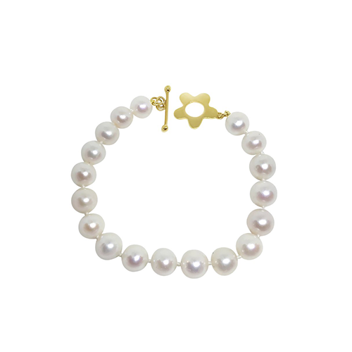Pearl bracelet with Wildflower clasp - Lauren Sigman Collection