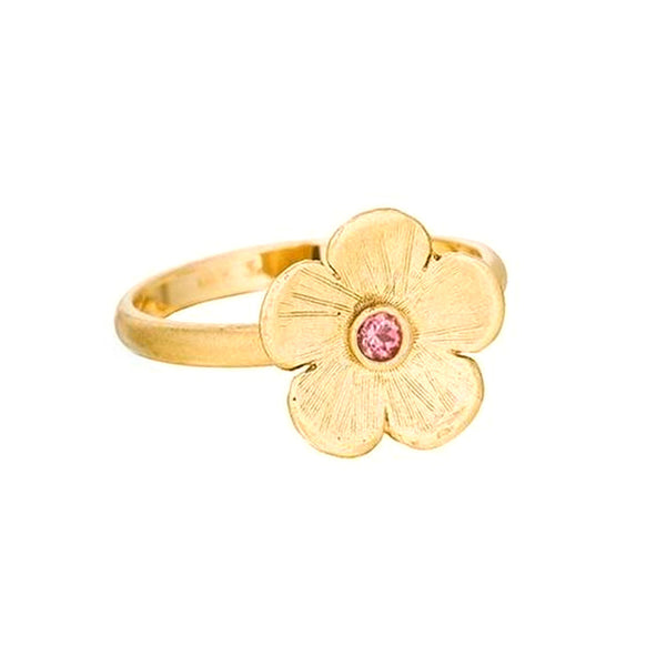 Petunia Ring with Pink Sapphire - Lauren Sigman Collection