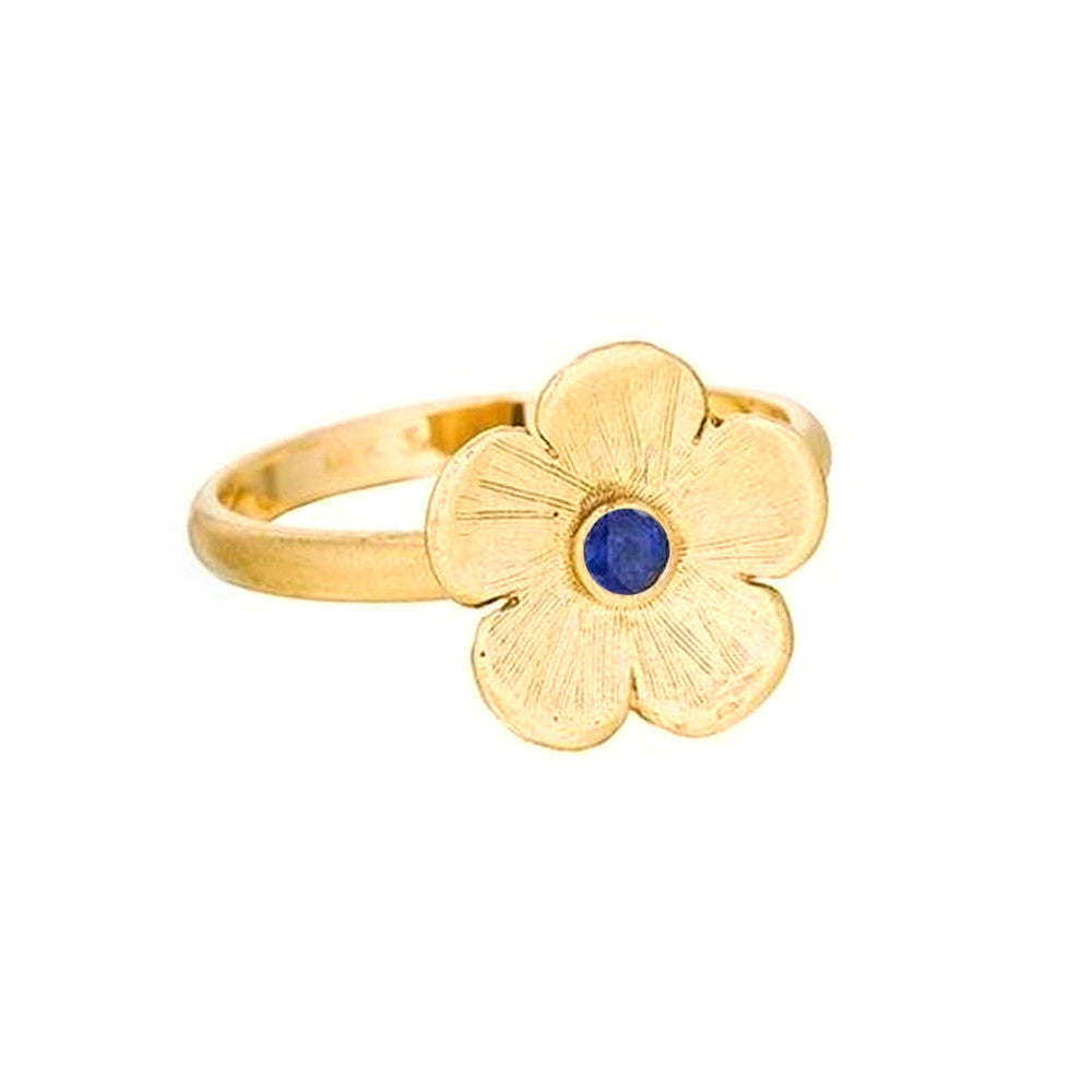 Petunia Ring with Blue Sapphire - Lauren Sigman Collection