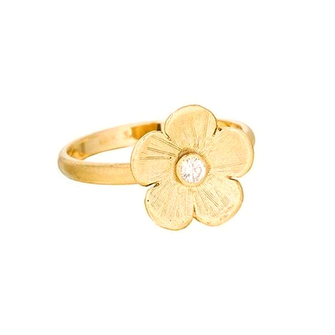 White Diamond Petunia Ring - Lauren Sigman Collection