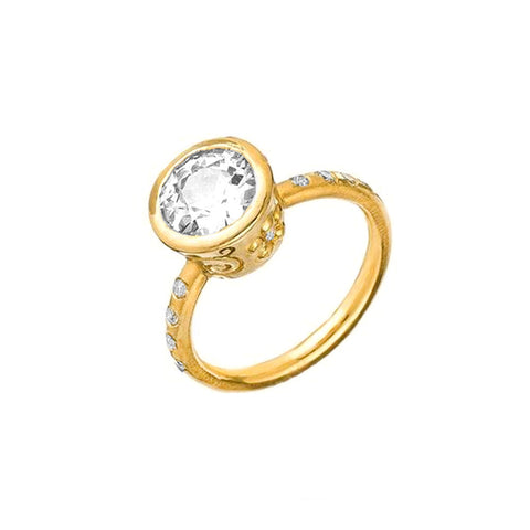 18K Jasmine and Diamond Band Setting - Lauren Sigman Collection