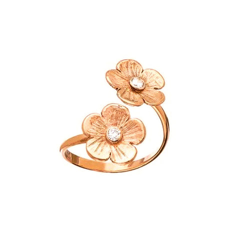 Petunia Diamond Rose Gold Split Ring - Lauren Sigman Collection