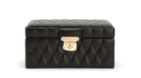 Caroline Small Jewelry Case (Black) - Lauren Sigman Collection