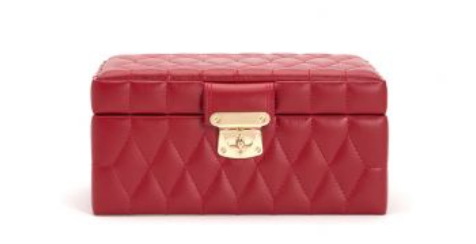Caroline Small Jewelry Case (Red) - Lauren Sigman Collection